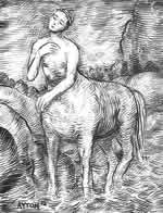 Young Centaur Crossing a Shallow Stream by William T. Ayton