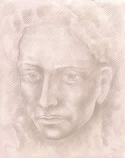 Dissolving Head silverpoint