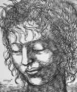 Head Inspired by Leonardo's Leda by William T. Ayton