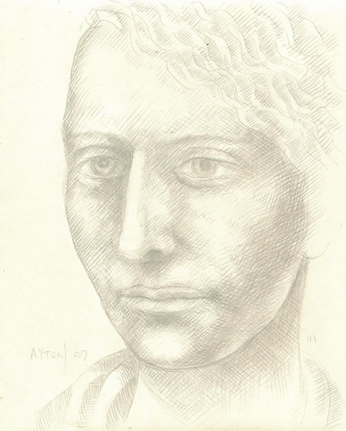 Narcissus, the Beautiful Youth silverpoint by William T. Ayton