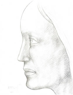 Profile of a Woman silverpoint